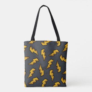 Lightning Pattern Tote Bag
