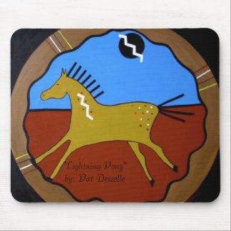 """Lightning Pony""  mouse pad"
