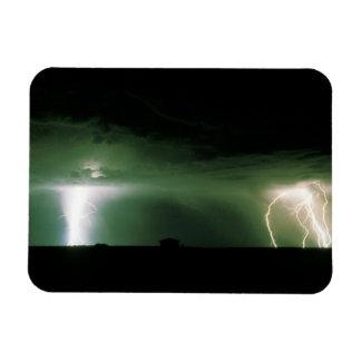Lightning. Rectangular Photo Magnet