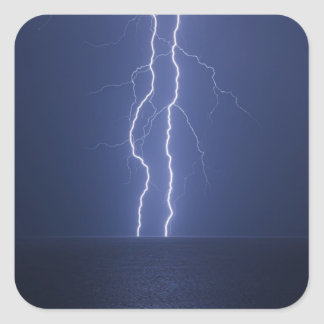 Lightning Square Sticker