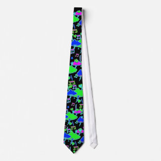 Lightning Stars Hearts Music Tie