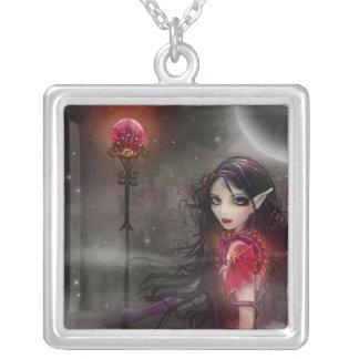 Lightning Stone Fairy Dragon Pendant Necklace