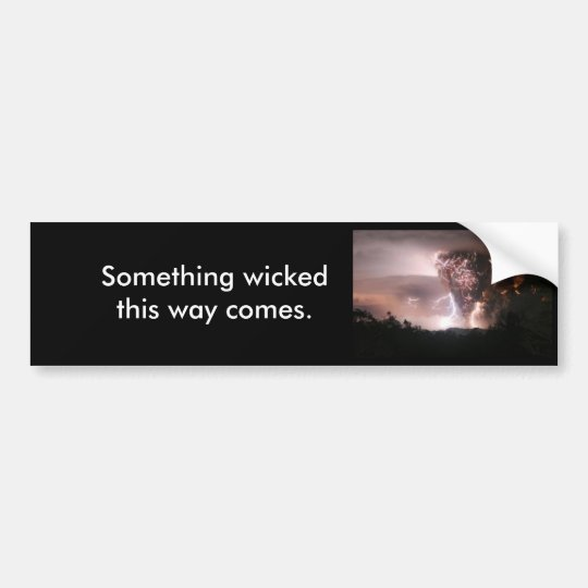 Lightning Storm Bumper Sticker