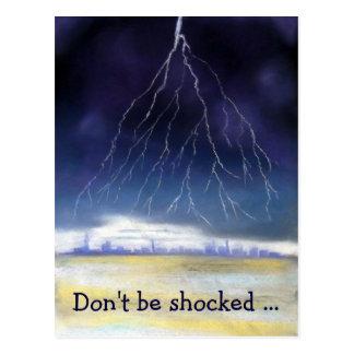Lightning Storm, greeting card Postcard