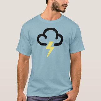 Lightning storm: retro weather forecast symbol T-Shirt
