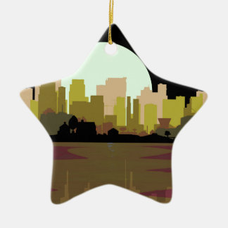 Lightning Strike City Christmas Ornament