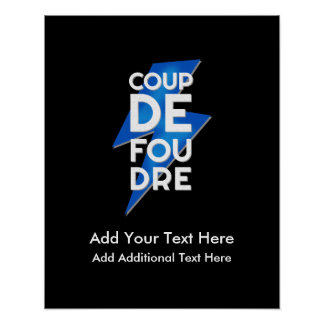 Lightning Strike - Coup de Foudre French Saying Poster
