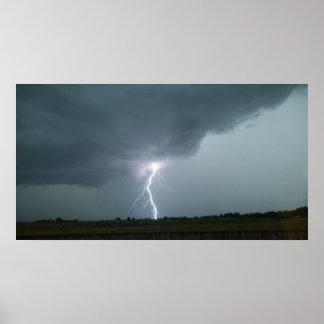lightning strike in loveland colorado print