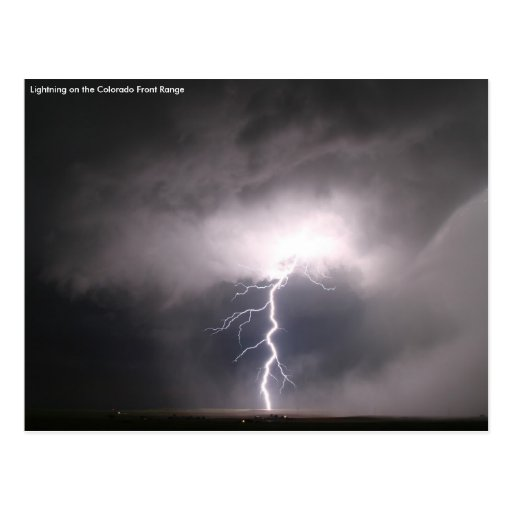 Lightning Strike on the Colorado Front Range Post Cards