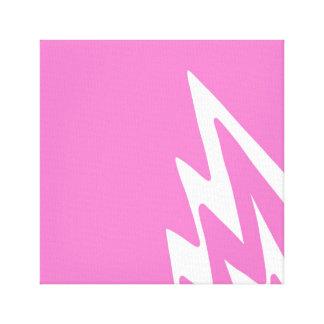Lightning Strike - Pink Artwork Design Canvas Print