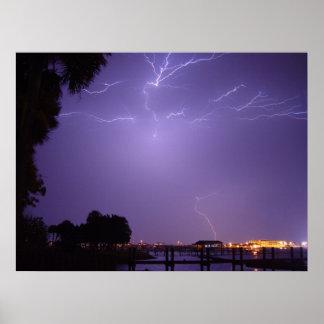 Lightning Strike River Palm Daytona Beach Poster