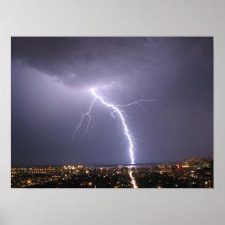 Lightning Strike Thunderstorm Toronto Canada Print