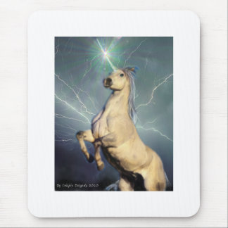 Lightning Strike Unicorn Mouse Mat