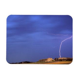 Lightning strikes buttes near Scottsbluff Magnet