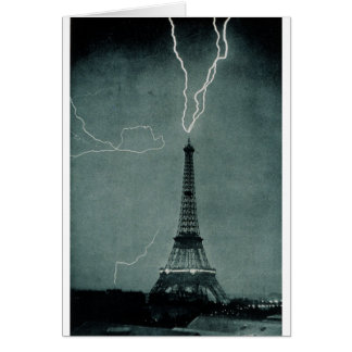 Lightning Strikes the Eiffel Tower, 1902 Card
