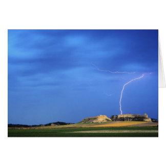 Lightning strikes the Wildcat Hills near Card