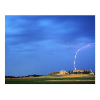 Lightning strikes the Wildcat Hills near Post Cards