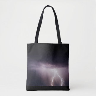 Lightning Strikes ... Tote Bag