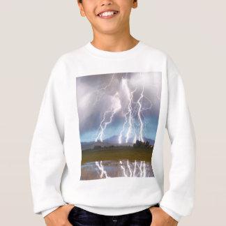 Lightning Striking Longs Peak Foothills 4C. Sweatshirt