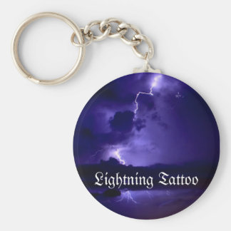 Lightning Tattoo Keychain