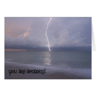 Lightning Thank you Card