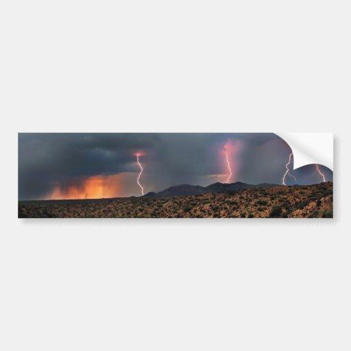 Lightning triple strike. bumper stickers