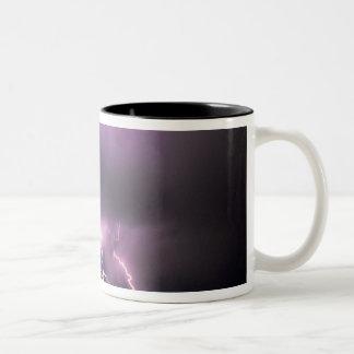 Lightning. Two-Tone Coffee Mug