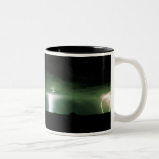 Lightning. Two-Tone Coffee Mug