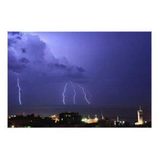 Lightnings in Genova Photo