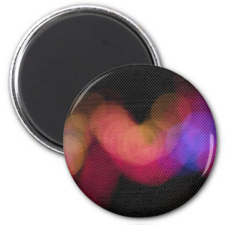 Lights 6 Cm Round Magnet