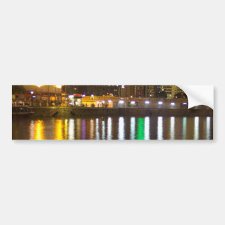 Lights and beauty of Clarke Quay in Singapore Car Bumper Sticker