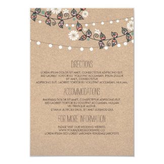 Lights Branch Wedding Details - Information Card
