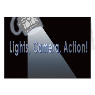 Lights Camera Action! Card