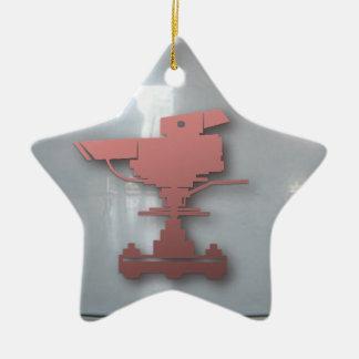 Lights camera action ceramic star decoration