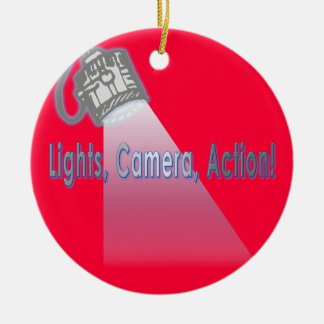 """Lights, Camera, Action!"" Christmas Ornament"