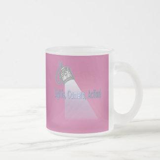 """Lights, Camera, Action!"" Frosted Glass Mug"