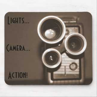 Lights Camera Action Mouse Mat