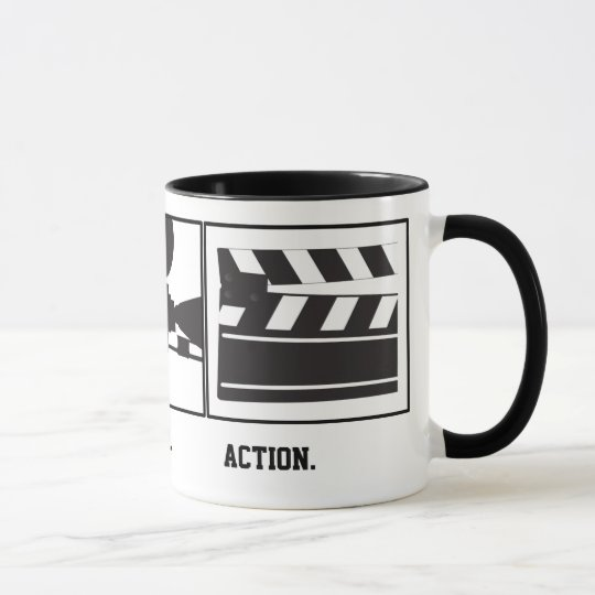 Lights.Camera.Action. Movie Maker Mug
