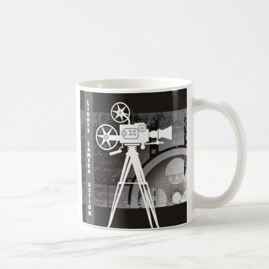 Lights, Camera, Action Movie Theme Coffee Mug