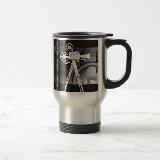 Lights, Camera, Action Movie Theme Travel Mug