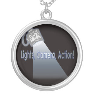 Lights Camera Action! Silver Plated Necklace