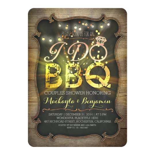 lights I do BBQ couples shower invitation