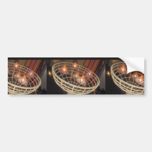 LIGHTS  in a Basket : Interior Decoration Sparkle Bumper Sticker