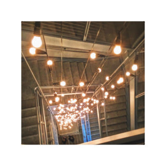 Lights in a Stairwell Canvas Print