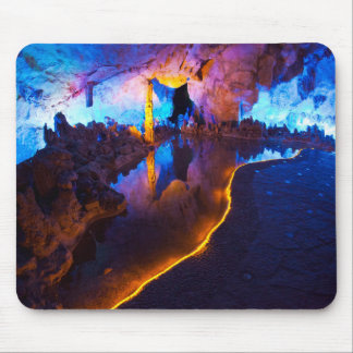 Lights in Reed Flute Cave, China Mouse Mat