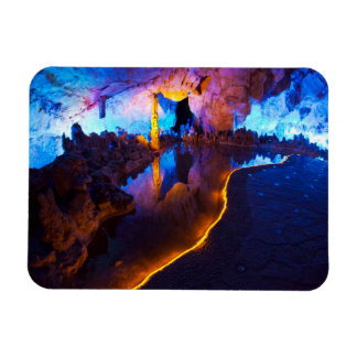 Lights in Reed Flute Cave, China Rectangular Photo Magnet