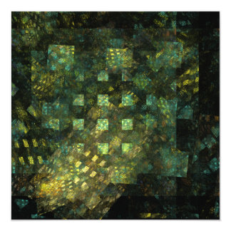 Lights in the City Abstract Art 13 Cm X 13 Cm Square Invitation Card