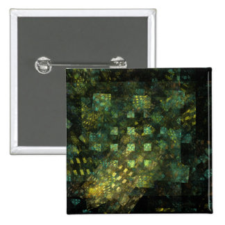 Lights in the City Abstract Art Button (square)