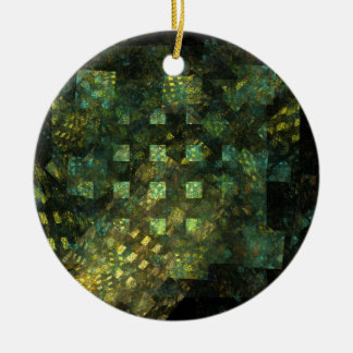 Lights in the City Abstract Art Circle Ornament