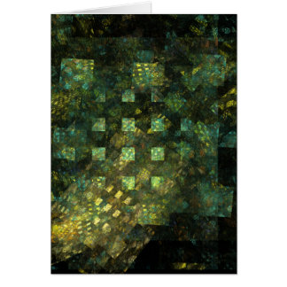 Lights in the City Abstract Art Greeting Card